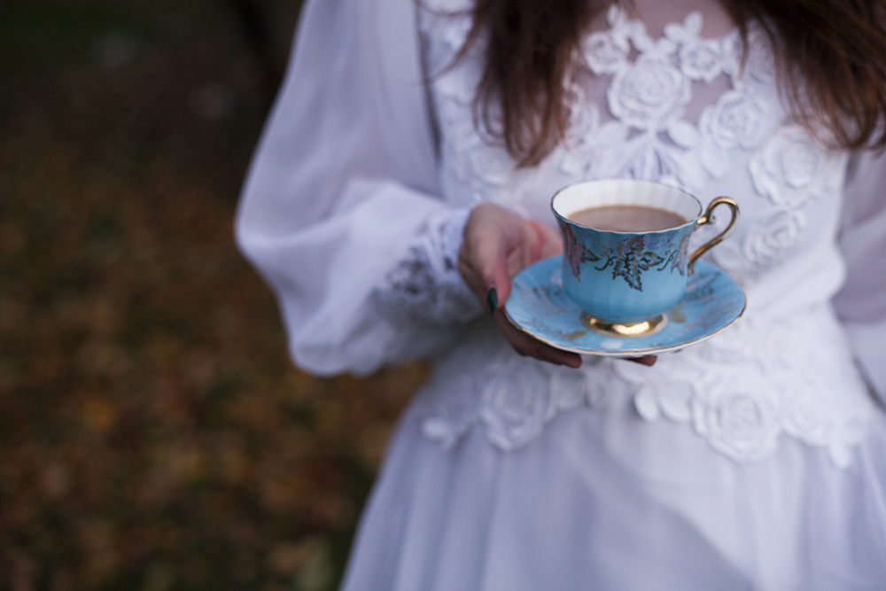 Vintage Wedding Dress Tea Party