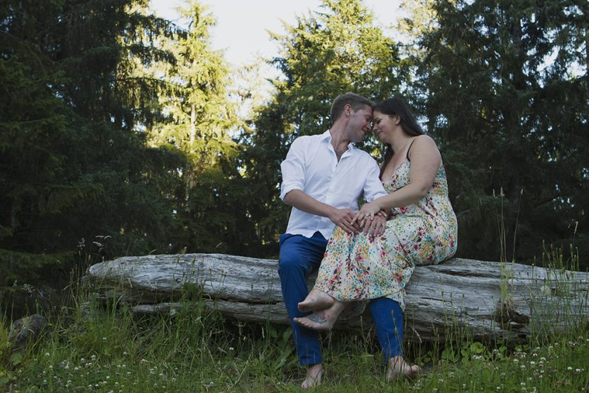 Vancouver Island Wedding Photographer - Parksville Qualicum Beach Wedding Photographer - Camping Engagement Photoshoot