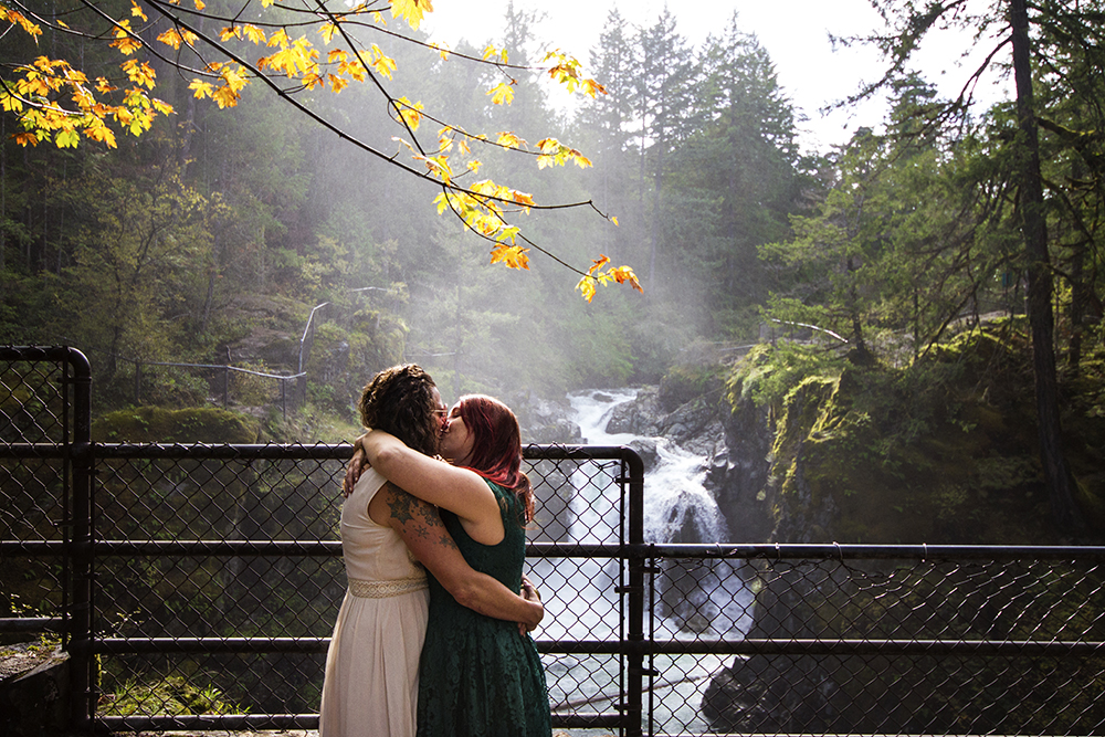 Leah and Carla- A Little Qualicum Falls Autumn Wedding