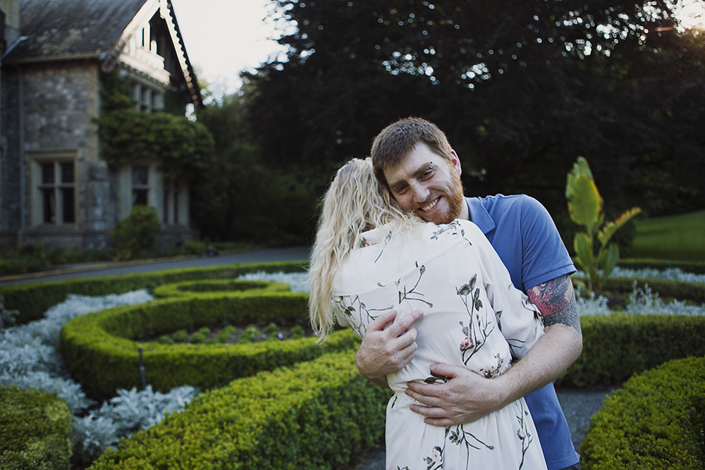 Hately Castle Engagement Photos- Vancouver Island Playful Wedding Photographer