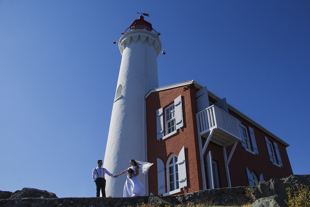 Emily & Shaun~ a Fisgard Lighthouse National Historic Park Wedding