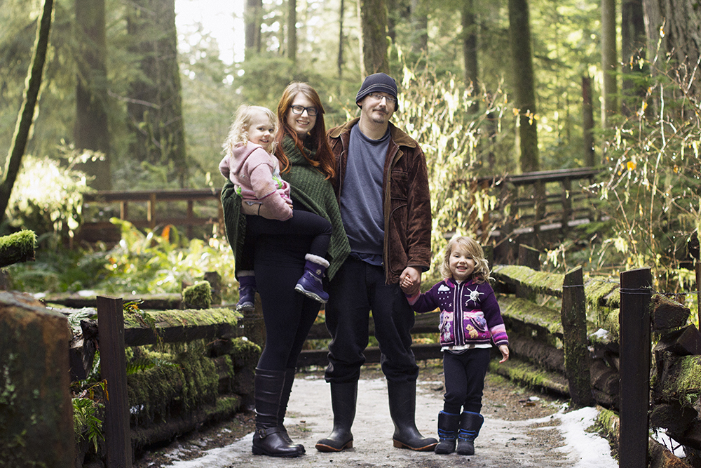 Cathedral Grove Family Photos ~ Winter Portraits in an Old Growth BC Forest