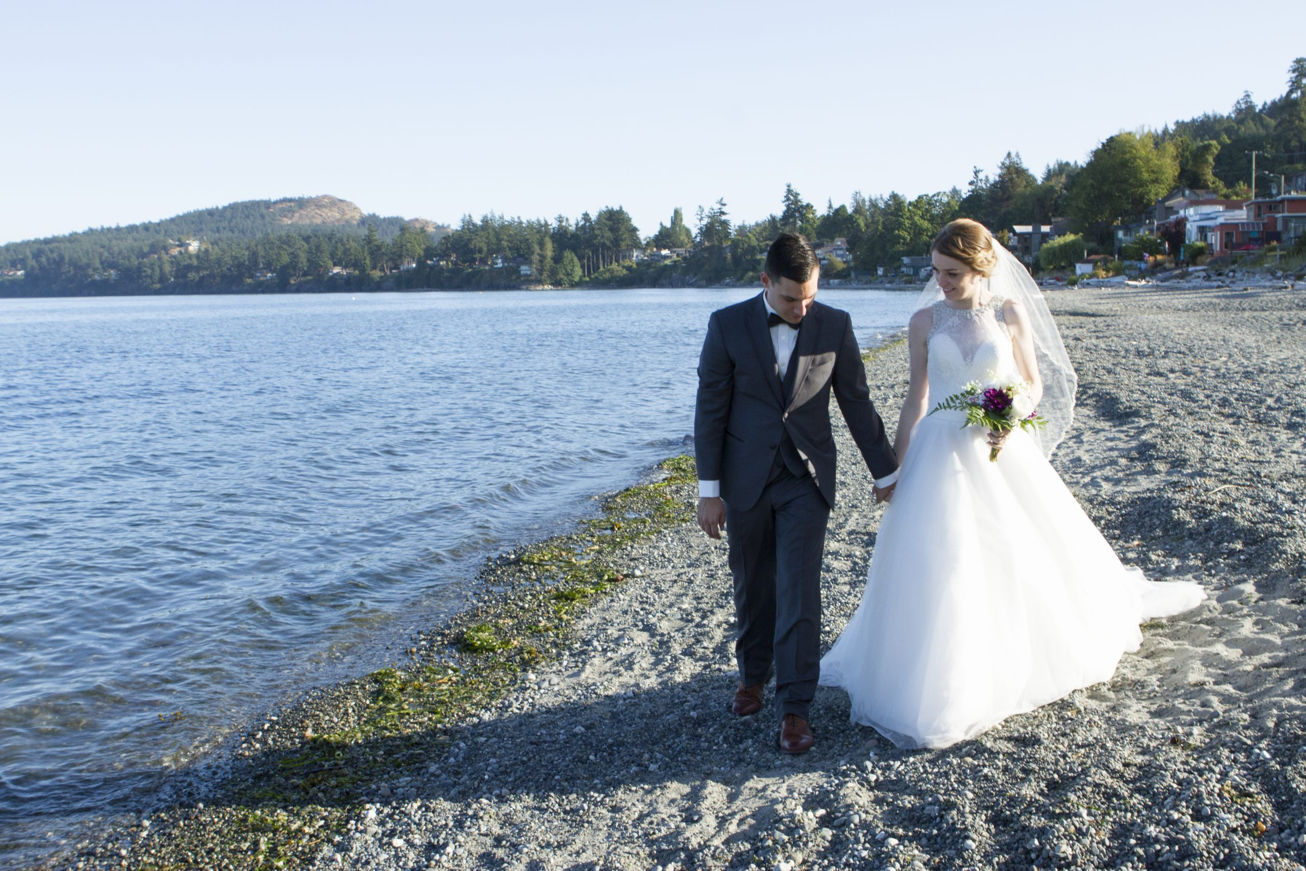 Taleah & Sean's Beach House Wedding ~ Cordova Bay, Victoria, BC Wedding Photography