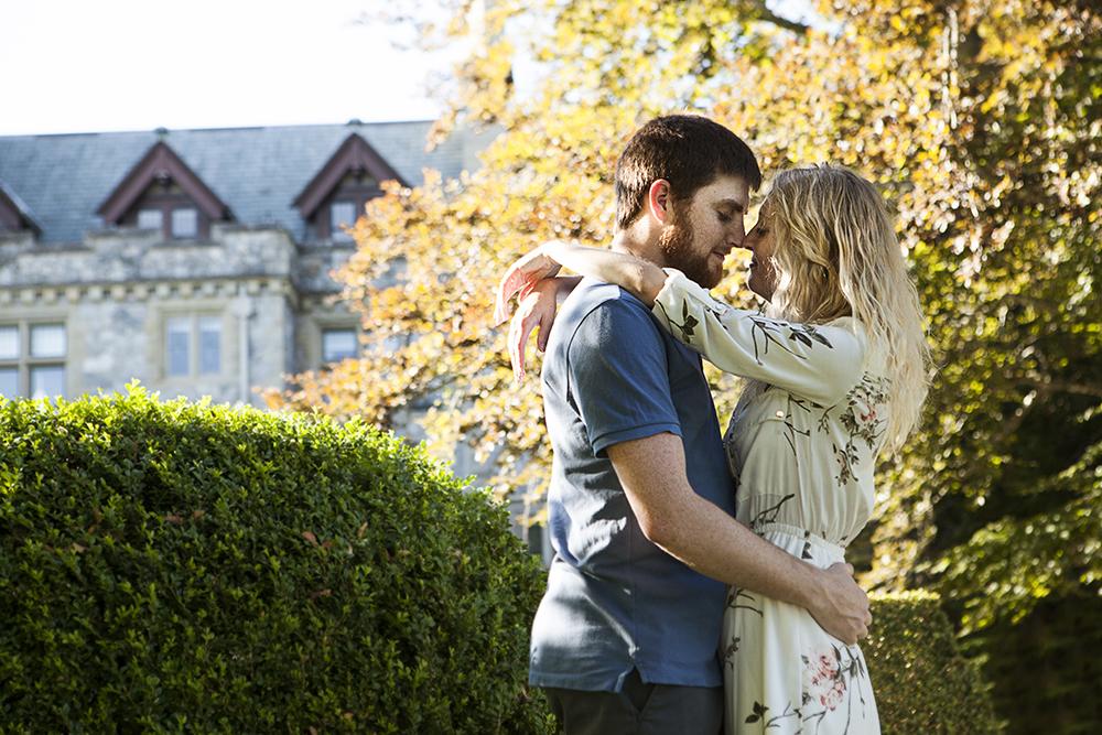 Hately Castle Engagement Photos- Vancouver Island Playful Wedding Photographer