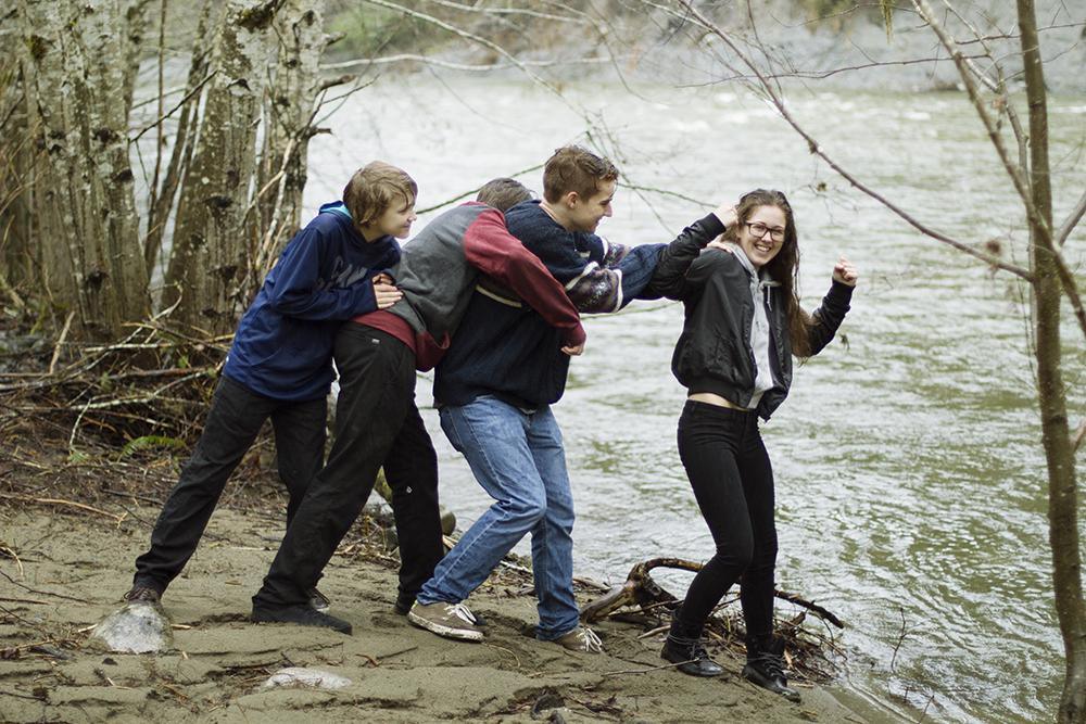 Parksville Family Photographer   Englishman River Trails   Top Bridge Park Family Photos