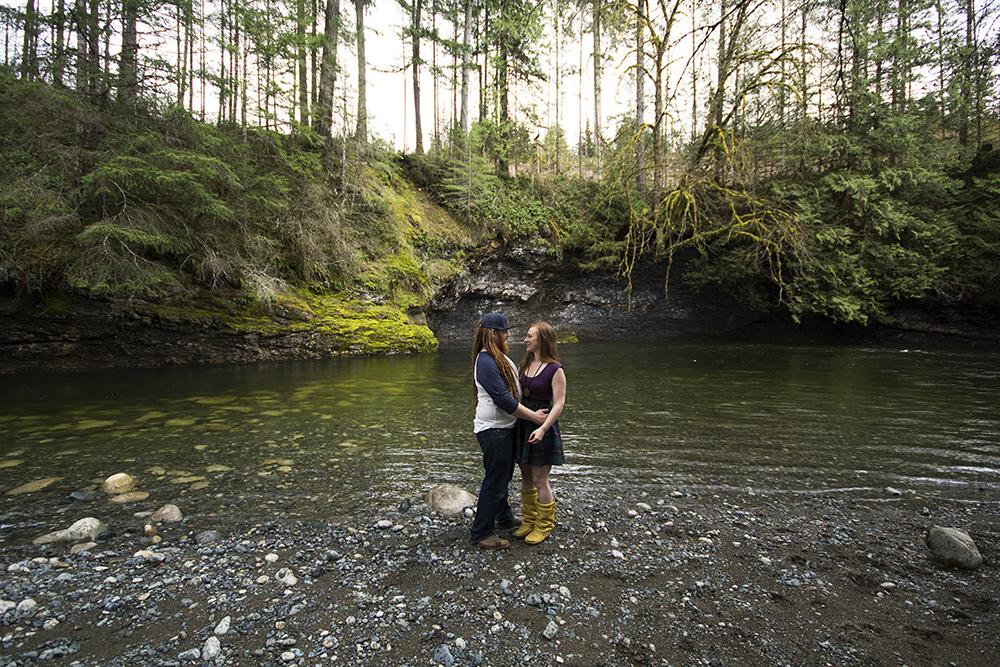 Englishman River Swimming | Parksville Wedding Photographer